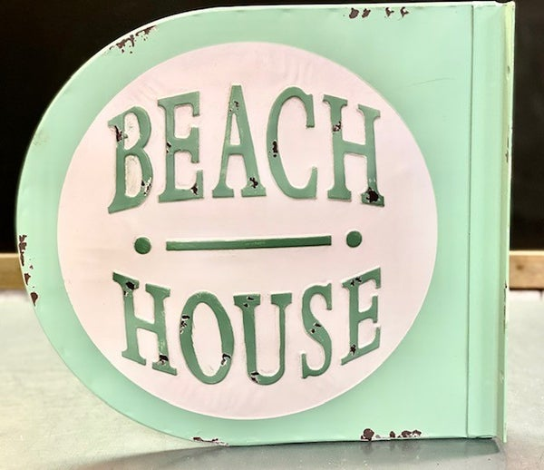 Beach House Sign Round