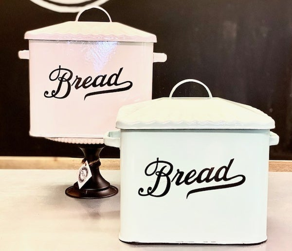 Large Enamel Bread Box
