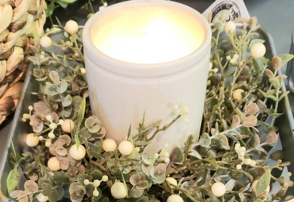 Cream Foggy Morning Candle Ring (Small)
