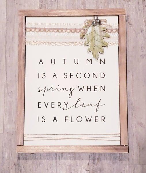 Autumn Flower Sign