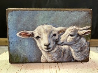Small Sheep Block Picture