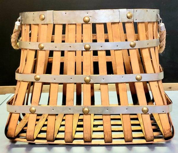 Large Rectangular Open Weave Basket