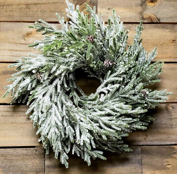 Snow Shine Juniper Wreath