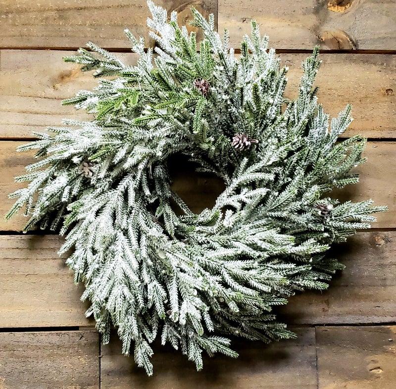 Snow Shine Juniper Wreath