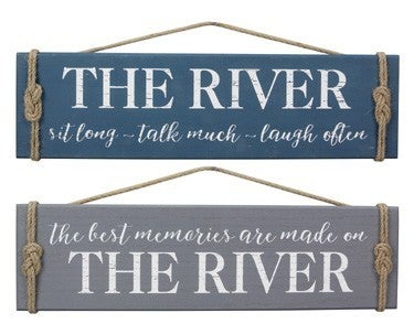 Wooden River Signs