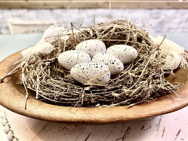 Set of 6 Wooden Miniature Eggs