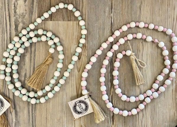 Blue/White Pink/White Beads