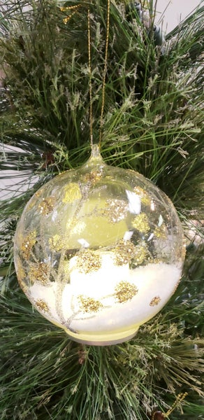 Winter Tree Flicker Candle Ornament