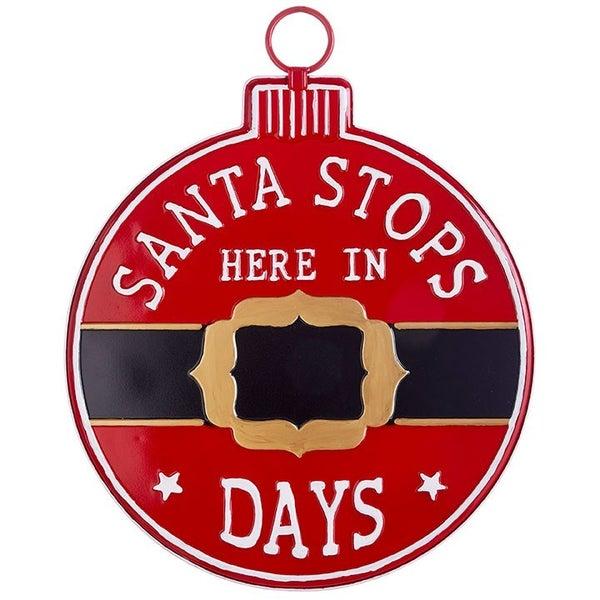 Santa Stops Here Chalkboard Countdown Sign