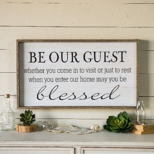 Wooden Guest Sign