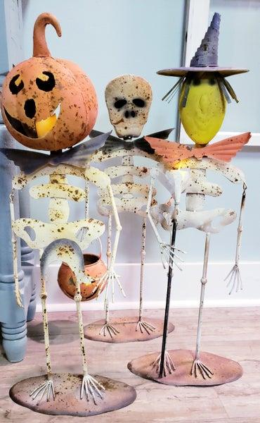 Metal Halloween Creatures w/ Tea Light Holder