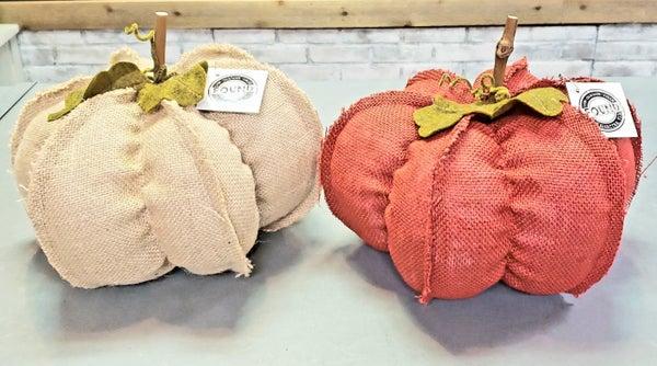 Large Burlap Pumpkin