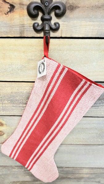 Red Stocking w/ Stripes