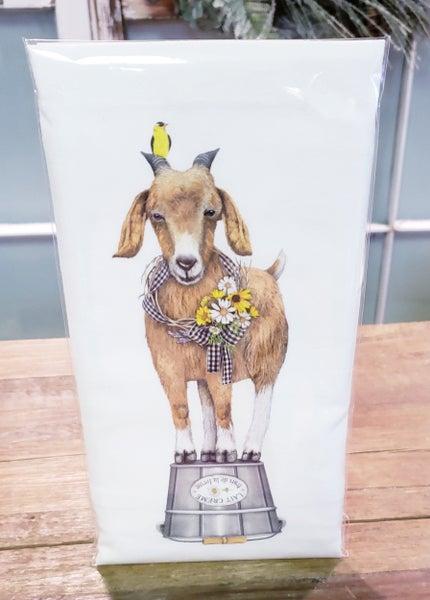 Sunny Goat Bagged Tea Towel