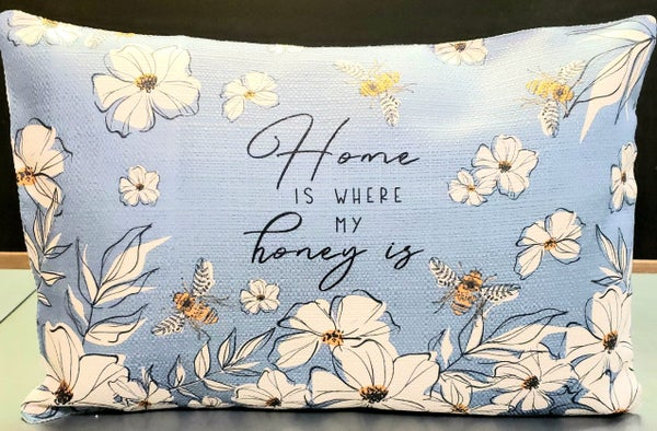 Home Honey Bee Lumbar Pillow