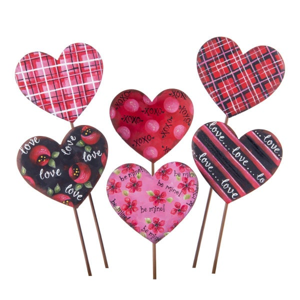 Small Love Heart Stakes