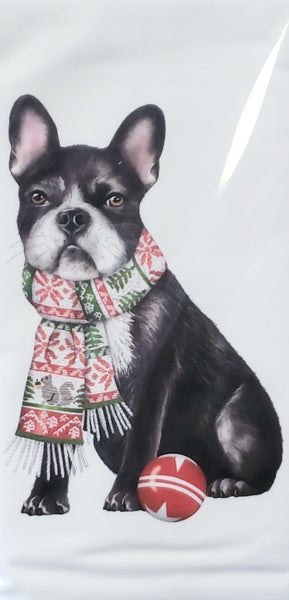 Frenchie Bagged Tea Towel