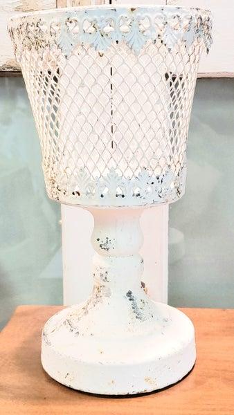 White Chippy Basket Stand