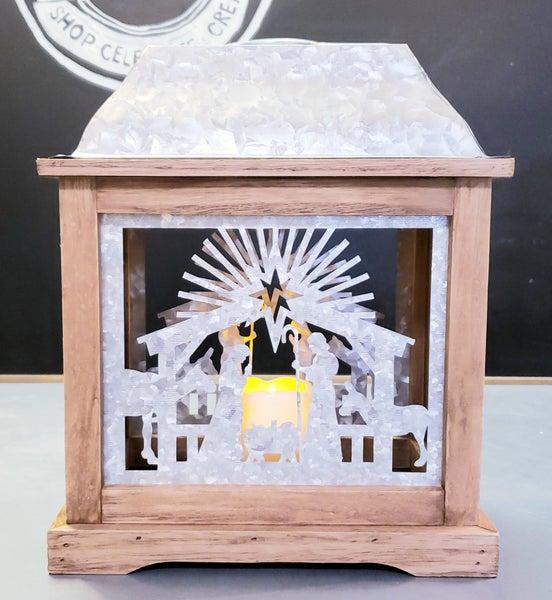 Nativity Double Sided Lantern