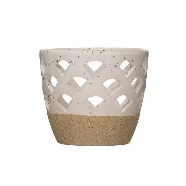 Speckled Stoneware Votive