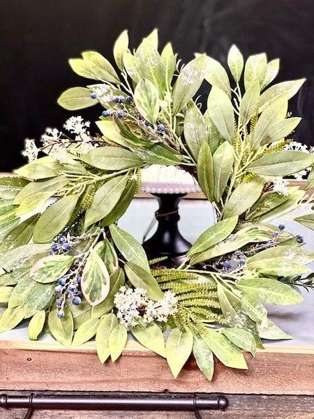 "20"" Large Blueberry & Sage Wreath"