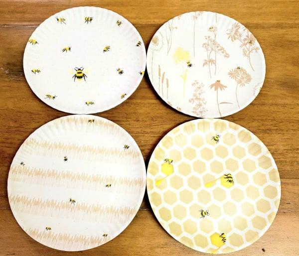 Busy Bee Melamine Plates