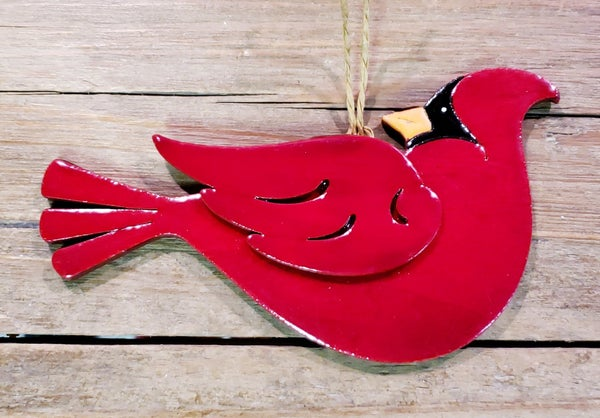 Wooden Cardinal Ornament