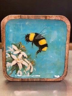 Enamel Bee Tray