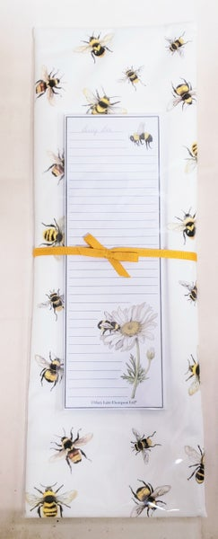 Bee Tea Towel & Notepad Set