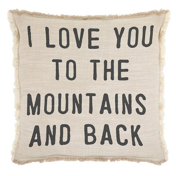 Large Love You to the Mountains Euro Pillow