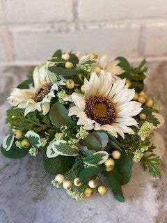 Cream Sunflower Half Sphere