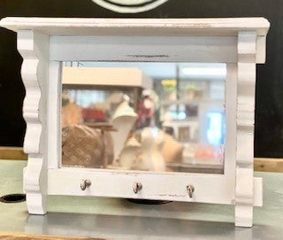 Mirror Shelf w/ Hooks