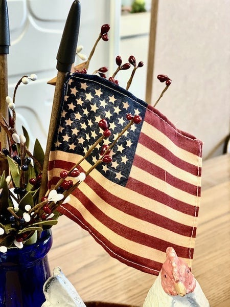American Flags on Sticks