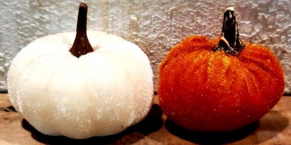 Mini Velvet Pumpkins