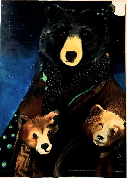 Bear Family Tea Towel