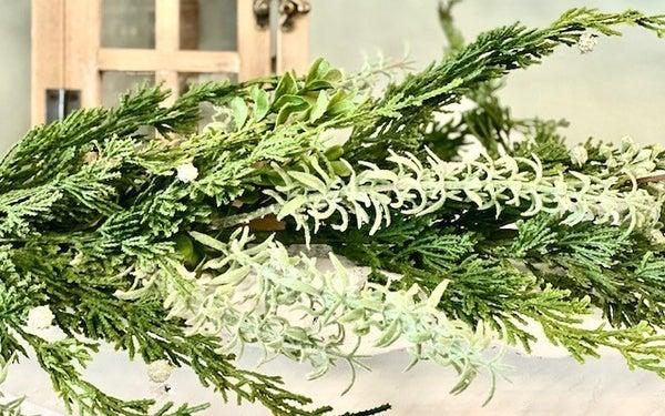 Rosemary, Cedar, and Boxwood Garland