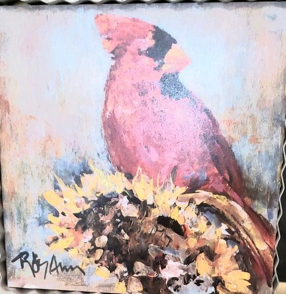 Cardinal w/ Sunflower Gallery