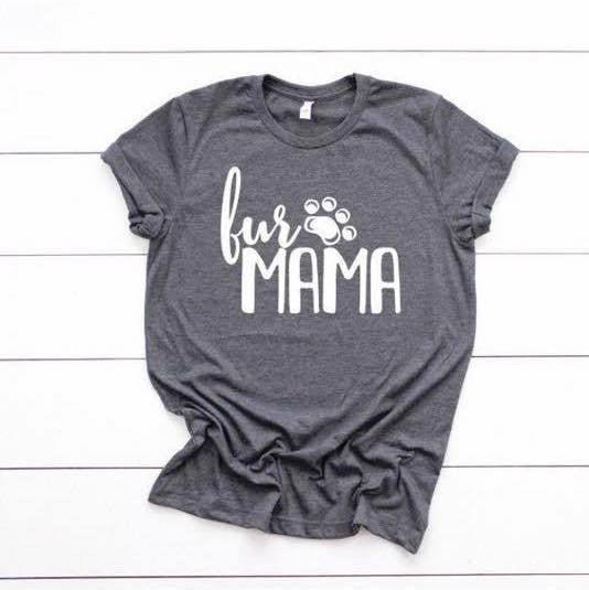 Fur mama (VNECK OR CREW!)