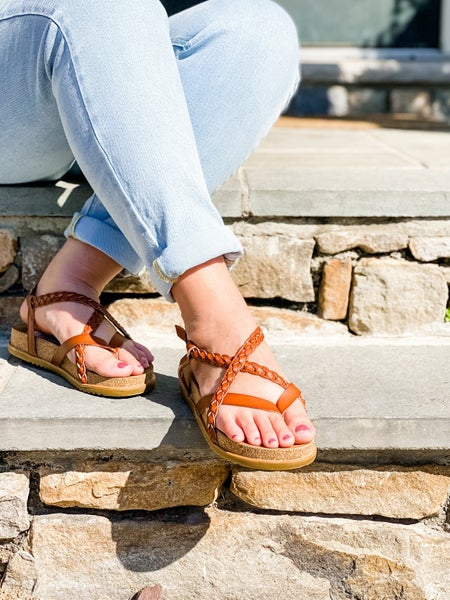 Blowfish Solid Strappy Braided Sandals (Multiple Colors)