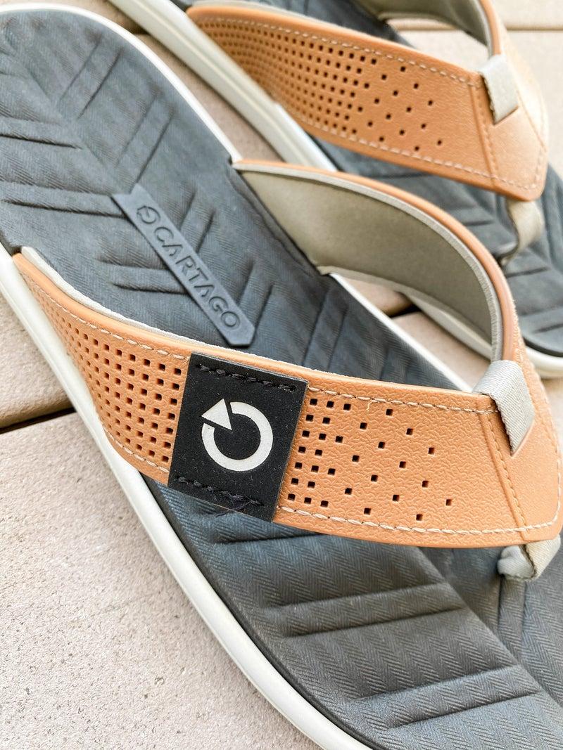 Mens Perforated Flip Flops