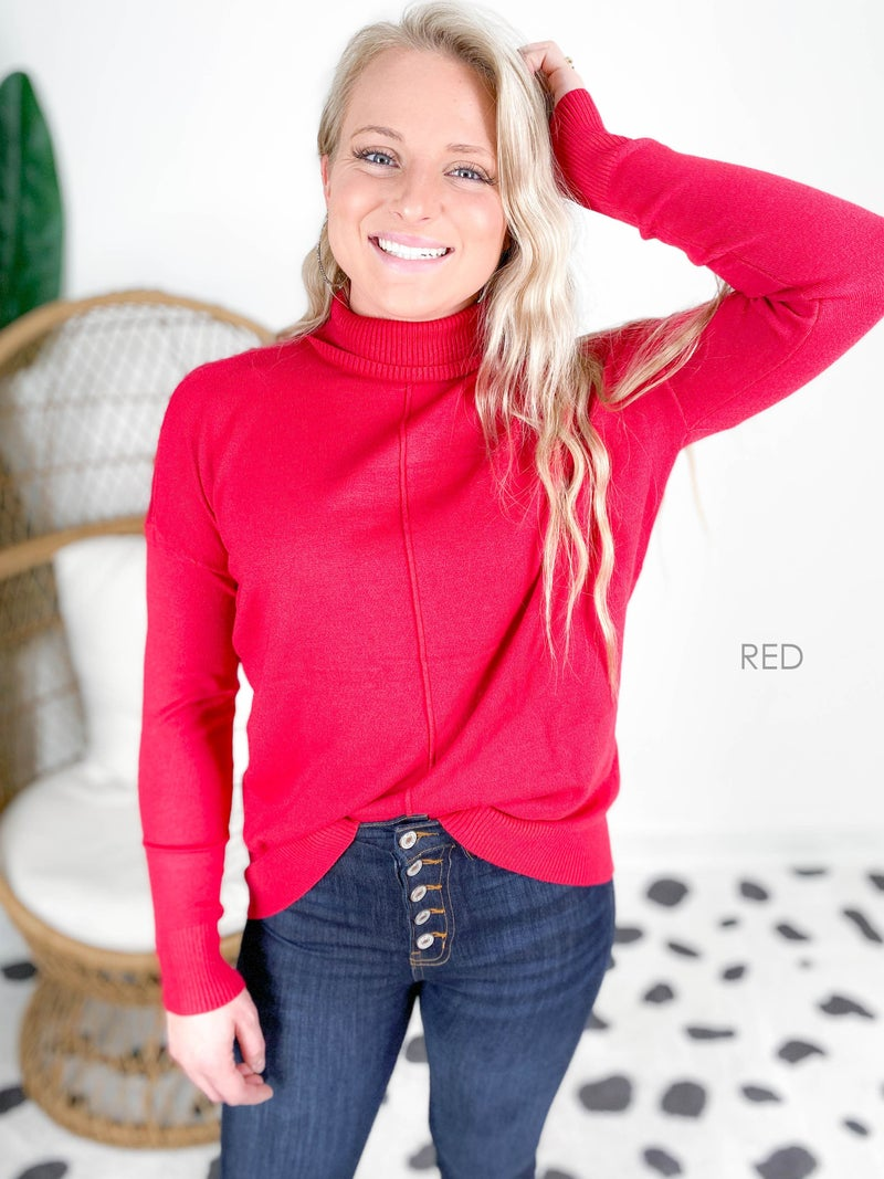Door Buster! Zenana Cloud Soft Turtleneck Sweater (Multiple Colors)