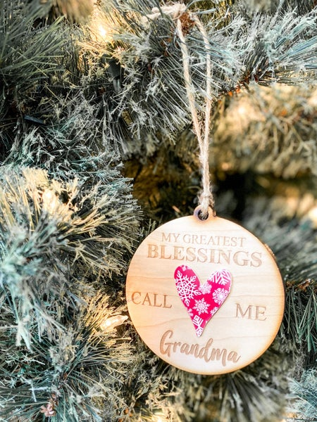 Grandma Christmas Ornament