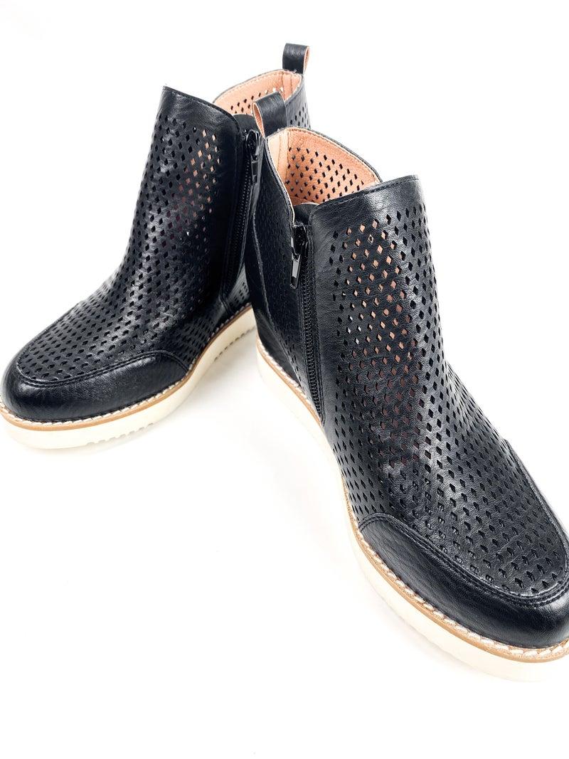 Perforated Wedge Heel Sneaker (Multiple Colors)