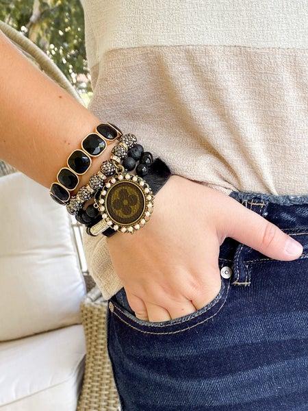 Keep it Gypsy Upcycled LV Stacked Bracelet Set