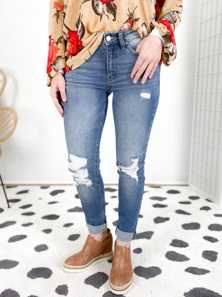 KanCan Girl Talk Girlfriend Jeans