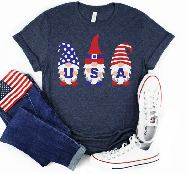 USA Red White and Blue Gnomes