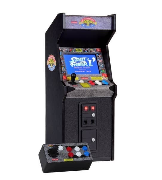 Street Fighter II  or Tempest RepliCade gaming machines!