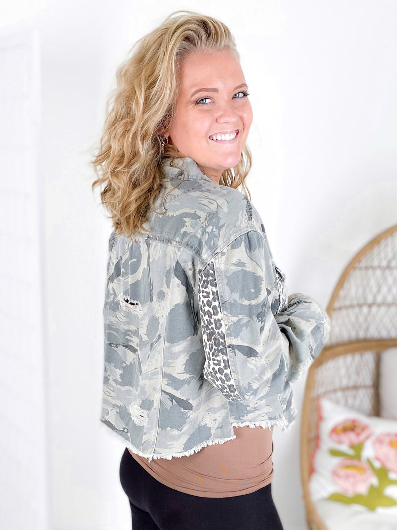 RESTOCK!!! plus coming soon! Beast Mode On Camo & Leopard Print Jacket