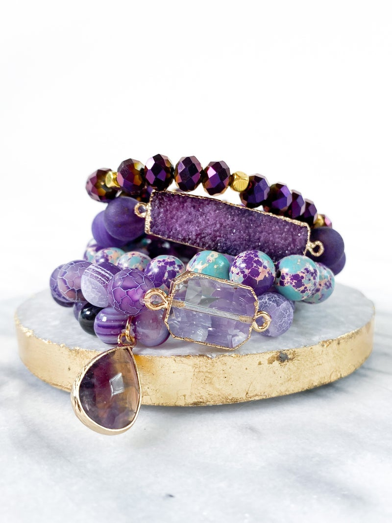 Stretch Bracelet Sets (Multiple Colors)