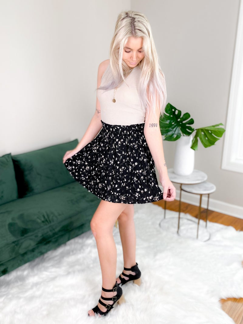 Ditsy Floral Print Mini Skirt